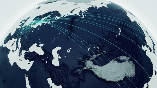 Finnair routes across a globe